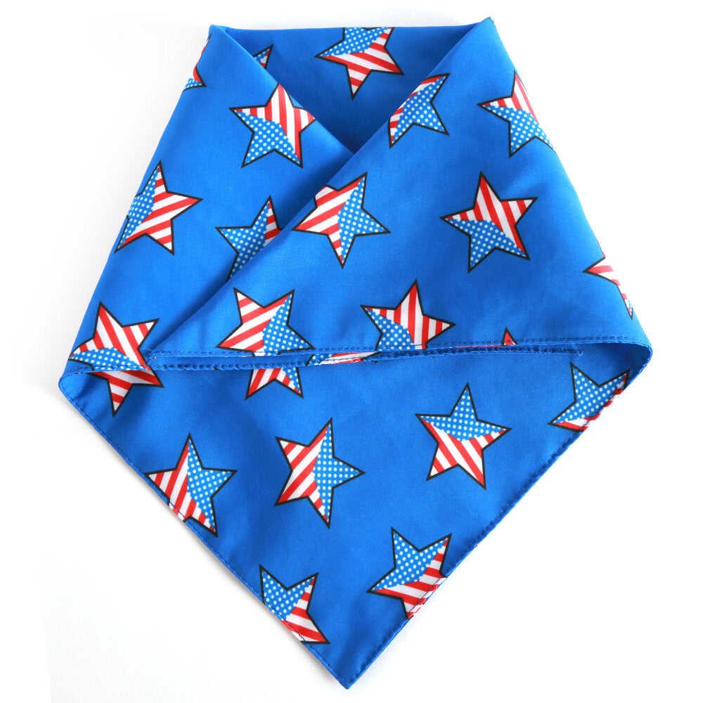 American Flag Triangle Towel Pet Saliva Towel Independence Day Pet Scarf Pet Accessories Pet Supplies