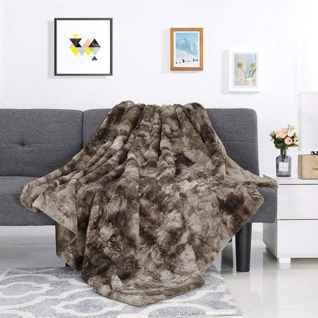 Pv Velvet Long Hair Crystal Velvet Blanket Cozy Warm Shawl Blanket