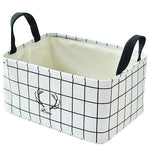 Folding Cotton And Linen Desktop Storage Basket