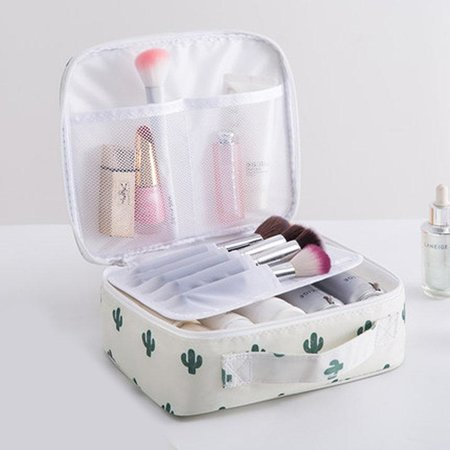 300D Oxford Mult-layer  Portable Travel Wash Cosmetic Bag