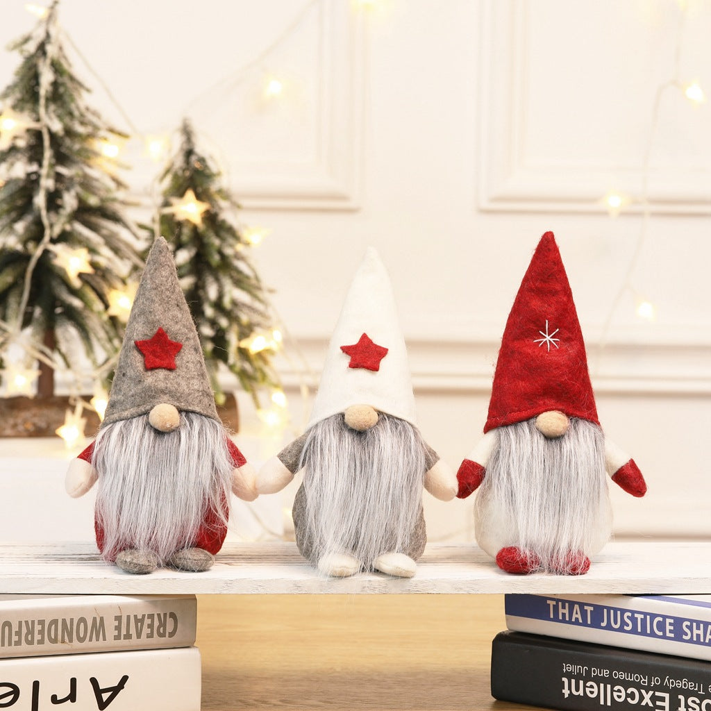 Christmas new European and American style faceless doll Table Ornaments