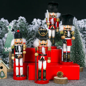 Clever Creations Traditional Soldier Nutcracker Collectible Wooden Christmas Nutcracker  Festive Holiday Decor Christmas gift