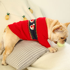Puppy Dog Harness Jacket  Santa Claus Red