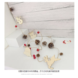Christmas LED wire light pine fruit copper wire light Christmas bell decoration