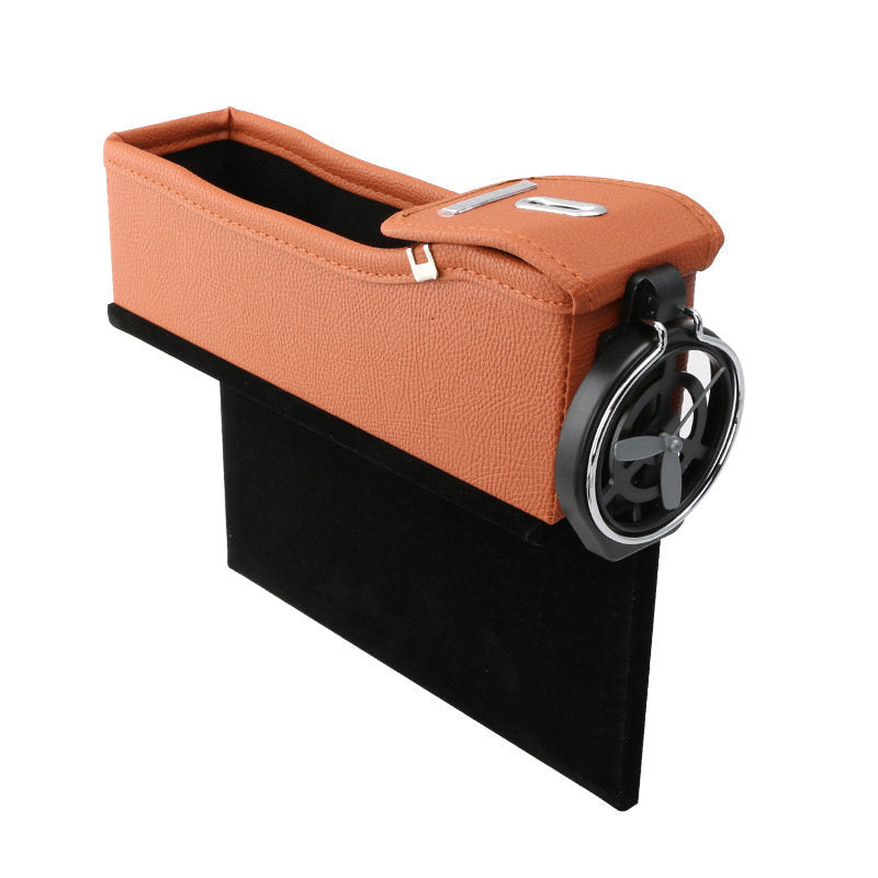 Car Seat Storage Box Gap Storage Bag Garbage Car Multi-Function Leather Water Cup Holder