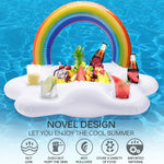 New Inflatable Rainbow Cloud Floating Cup Holder