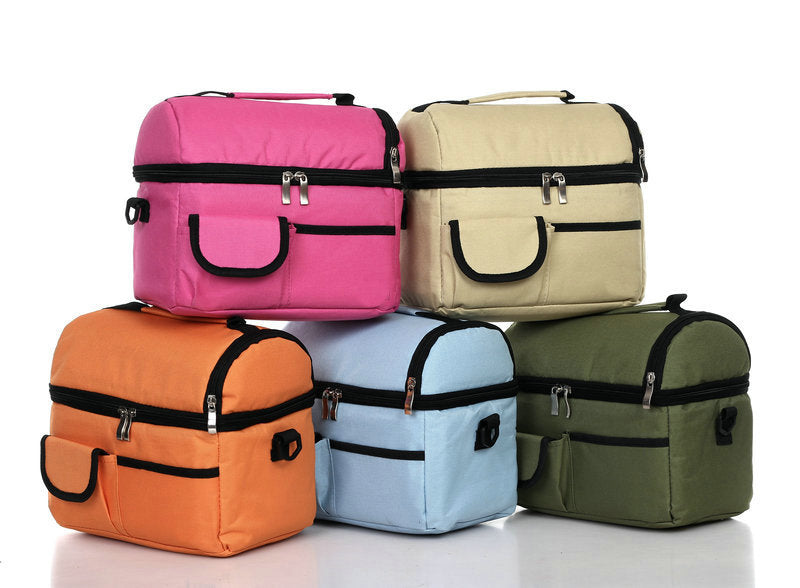 Waterproof Insulated Thermal Cooler Lunch Box Carry Tote Work Case Storage Bag