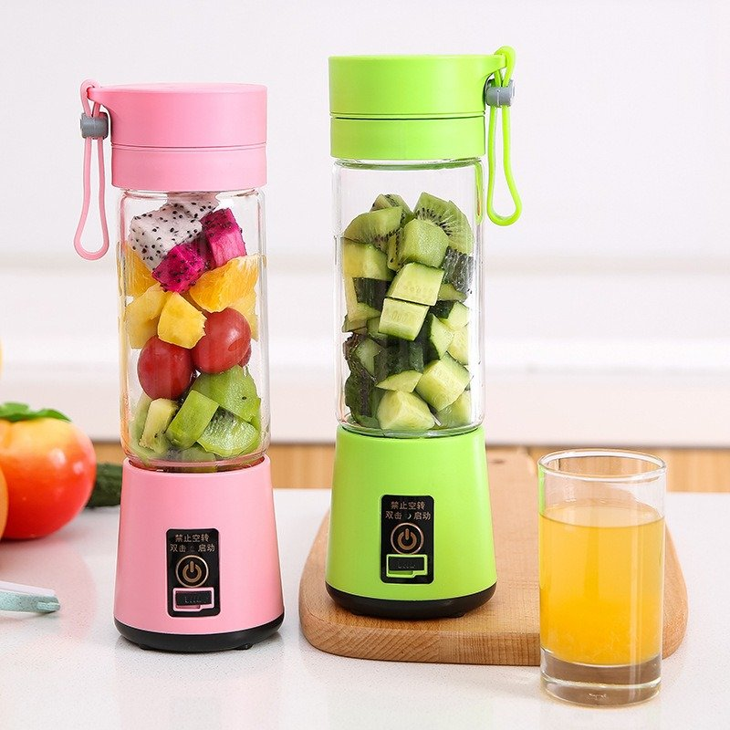 Portable Multi-Blades Juicer Cup USB Rechargeable Blender Vegetables Fruit Milkshake Smoothie