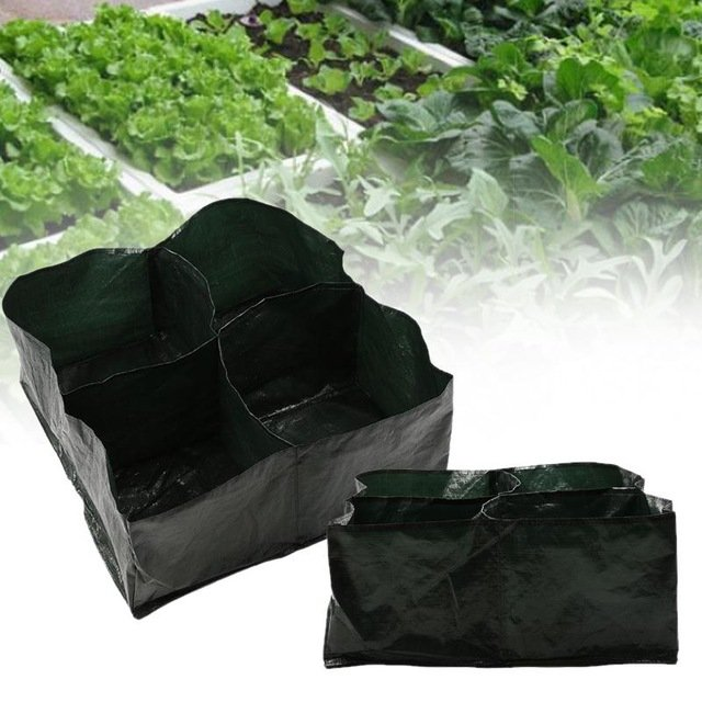 4 Pockets Vegetable Planter Bags Outdoor Home Garden Plant Flower Greening Seeding Planting Bags