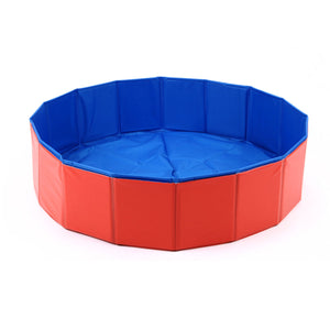 2 Colors Foldable Pet Dog Cat Swimming Pool Bath Pool