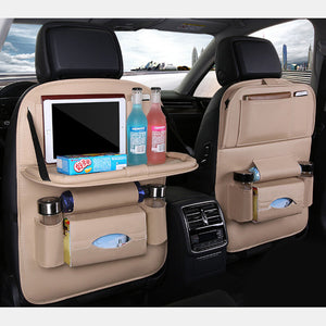 8 Styles Leather Waterproof Car Storage Bag Multi-Function Hanging Bag Car Seat Storage Container Folding Dining Table