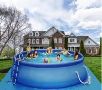 Large Size Summer 12 ft x 36 in Easy Set Pool Set with Air Pump Swim Center For Outdoor Garden