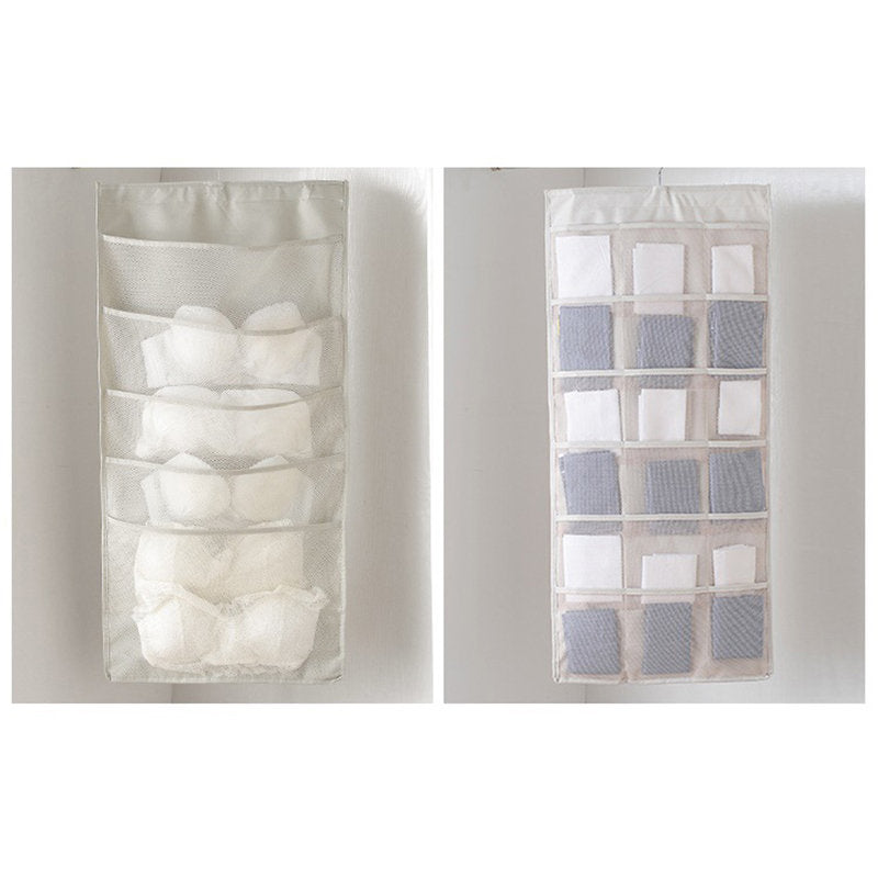 Waterproof Oxford Fabric Double Sided Visible Hanging Organizer Home Wardrobe Hanging Storage Bag