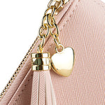 Women 11Card Slots Tassel Detachable 6.3'' phone Zipper Long Wallet