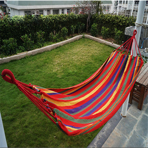 Outdoor Garden Back Yard Travel Camping Beach Stripe Hammock Hang Bed