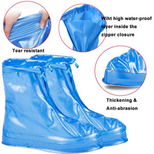 Waterproof Protector Shoes Boot Cover Unisex Zipper Rain Shoe Covers Anti-Slip Rain Shoes