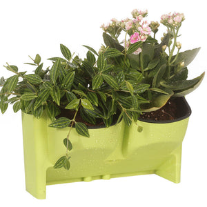 Green Indoor And Outdoor Balcony Wall Hanging Flower Pot Creative combination resin flower pot