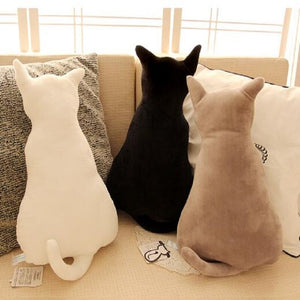 Super Cute Soft Plush Cat Back Sofa Pillow Cushion Stuffed Animal Doll Pillows