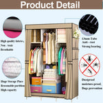 Multipurpose Cabinet Non-woven Fabric Wardrobe Portable Closet Storage Organizer Dustproof Cloth Clothes Rack Shelves Bedroom Home Furniture