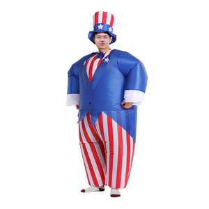 Uncle Sam Party Clothing Inflatable Cute Cosplay Performance Costume Clothing for Holiday Party