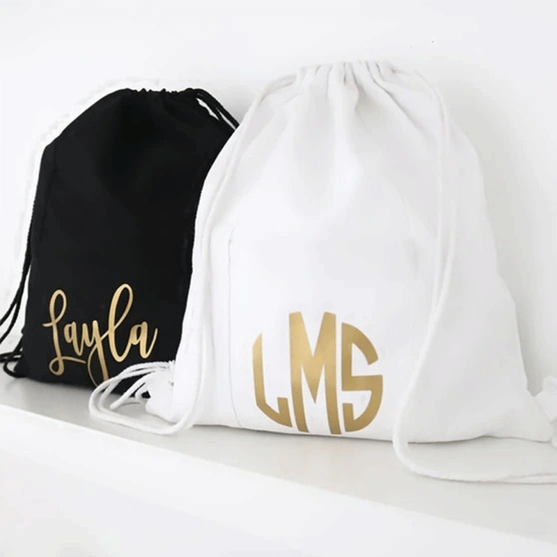 Monogram Custom Name/Saying Drawstring Backpack, Drawstring Bag, Monogram Backpack, Personalized Custom Bag