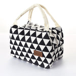 Geometric Pattern Insulation Bag Cold Bag Ice Pack Lunch Box Bag Creative Portable Picnic Bag