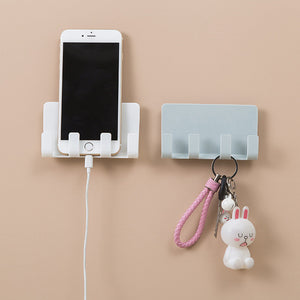 Paste 4 Hook Storage Hanger Creative Phone Charging Bracket Charging Bracket