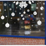 Christmas Window Stickers Vinyl DIY Star Snow Angel Wall Decals for Family Decoration