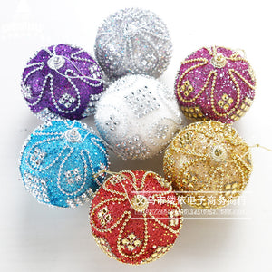 High end Christmas ball shopping mall Christmas tree decorations holiday decorations Christmas decorations wholesale red