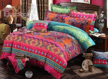Luxury Bohemia Style Lightweight Ethnic Pattern 4-Piece Bedding Sets/Duvet Cover