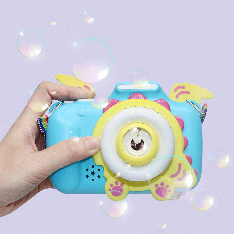 Cute Camera Automatic Music Bubble Machine Children Toys Soap Bubble Machine Outdoor Kids Child Toy Gift For Boys Girls