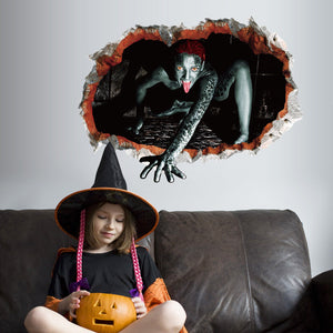 Removable Halloween Party Scary Wall Stickers Decoration 3D Wall Decals Mural Bar Home Living Room