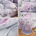 Aloe Cotton Four-piece Set Simple Brushed Quilt Cover Cotton Small Fresh Three-piece Set
