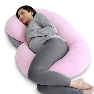 Pregnancy Pillow with Jersey Cover, C Shaped Full Body Pillow