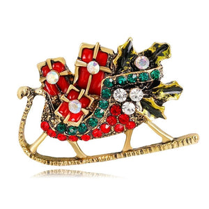 Christmas Brooch Christmas Tree Santa Claus Brooch Party Decoration