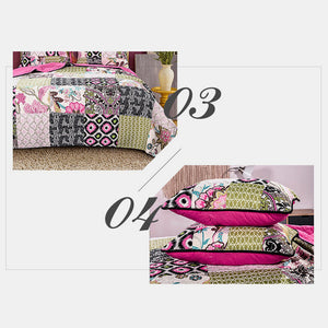 Handmade Patchwork Cotton Quilted Cover Three-piece Set 100% Cotton Reversible Ultra Soft