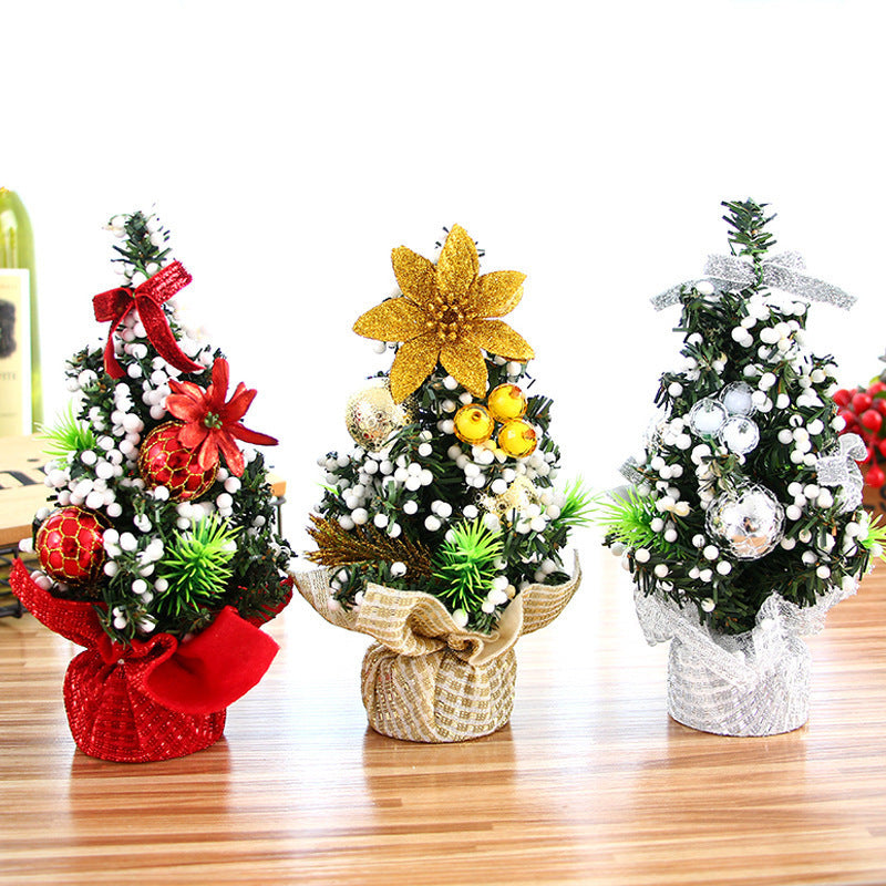 Mini Christmas Package tree table top ornament children gift Christmas tree small ornament