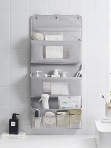 Nordic Storage Bag Wall-mounted Door Behind Oxford Cloth For Bathroom Toiletries Kitchen Bedroom Sundries Toy Storage Organizer