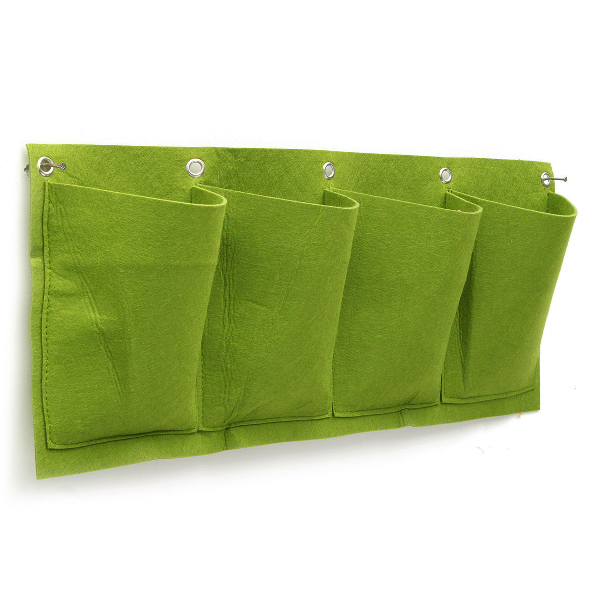 4 Pockets Wall Planter Growing Bags Planting Bags Garden Vertical Gardening Hanging Wall Seedling