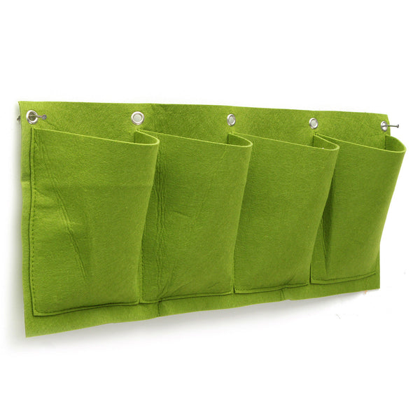 4 Pockets Wall Planter Growing Bags Planting Bags Garden