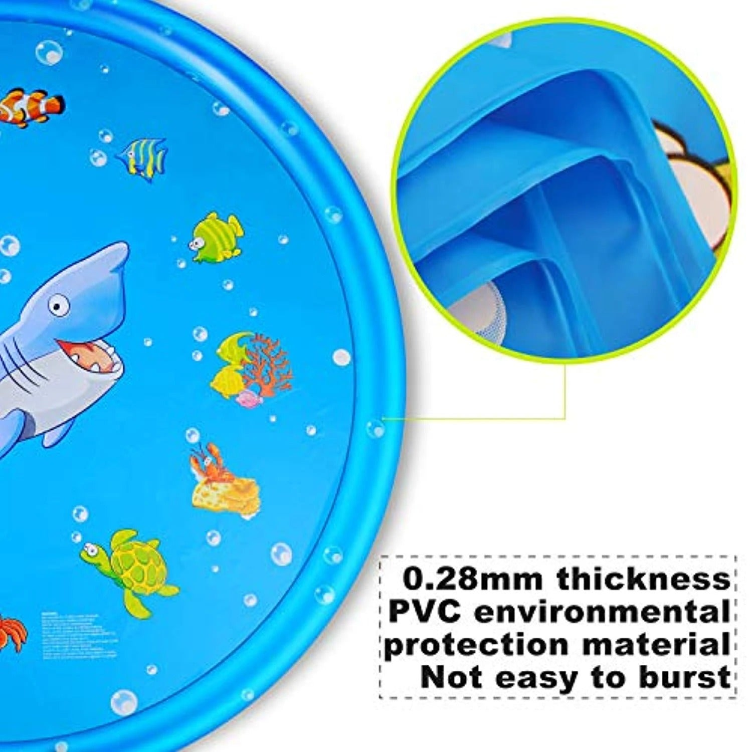 "Sprinkler pad & Splash Play Mat 68"" Toddler Water Toys Fun for 1 2 3 4 5 Year Old Boy Girl, Kids Outdoor Party Sprinkler Toy"