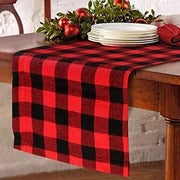Cotton & Burlap Buffalo Check Table Runner Christmas Table Decoration