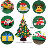 DIY Felt Christmas Tree with 30pcs Ornaments Christmas Gift for Kids