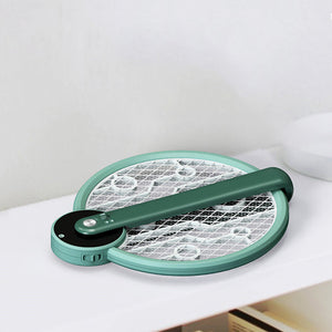 2200V Electric Insect Racket Swatter Zapper USB Rechargeable Mosquito Swatter Kill Fly Bug Zapper Killer Trap Foldable