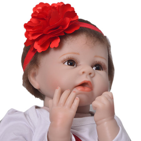 Soft Silicone Cute Reborn Baby Girl Newborn Lovely Girl Lifelike Toy