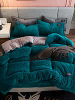 Thicken Corduroy Velvet Winter Comforter Single Twin Queen King Size Quilt