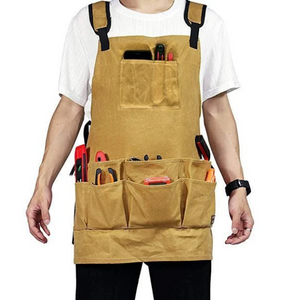 Gardening Apron Thickened Multi-Pocket Adjustable Canvas Work Tool Apron