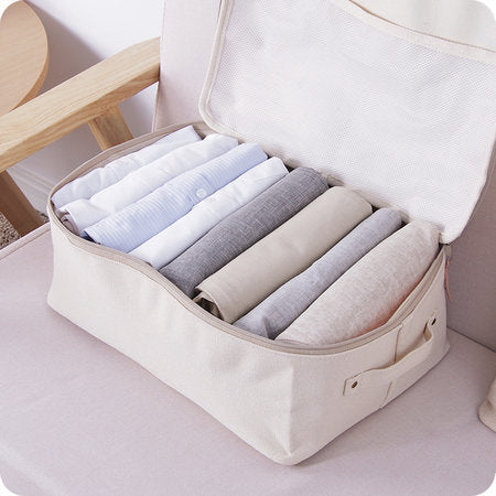 Thickened Canvas Clothing Quilt Storage Bag Organize Bag