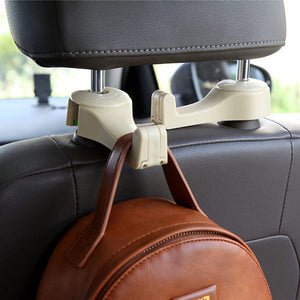 Car Seat Back Headrest Phone Holder ABS Storage Hanger Hook Bag Cloth Holder Organizer
