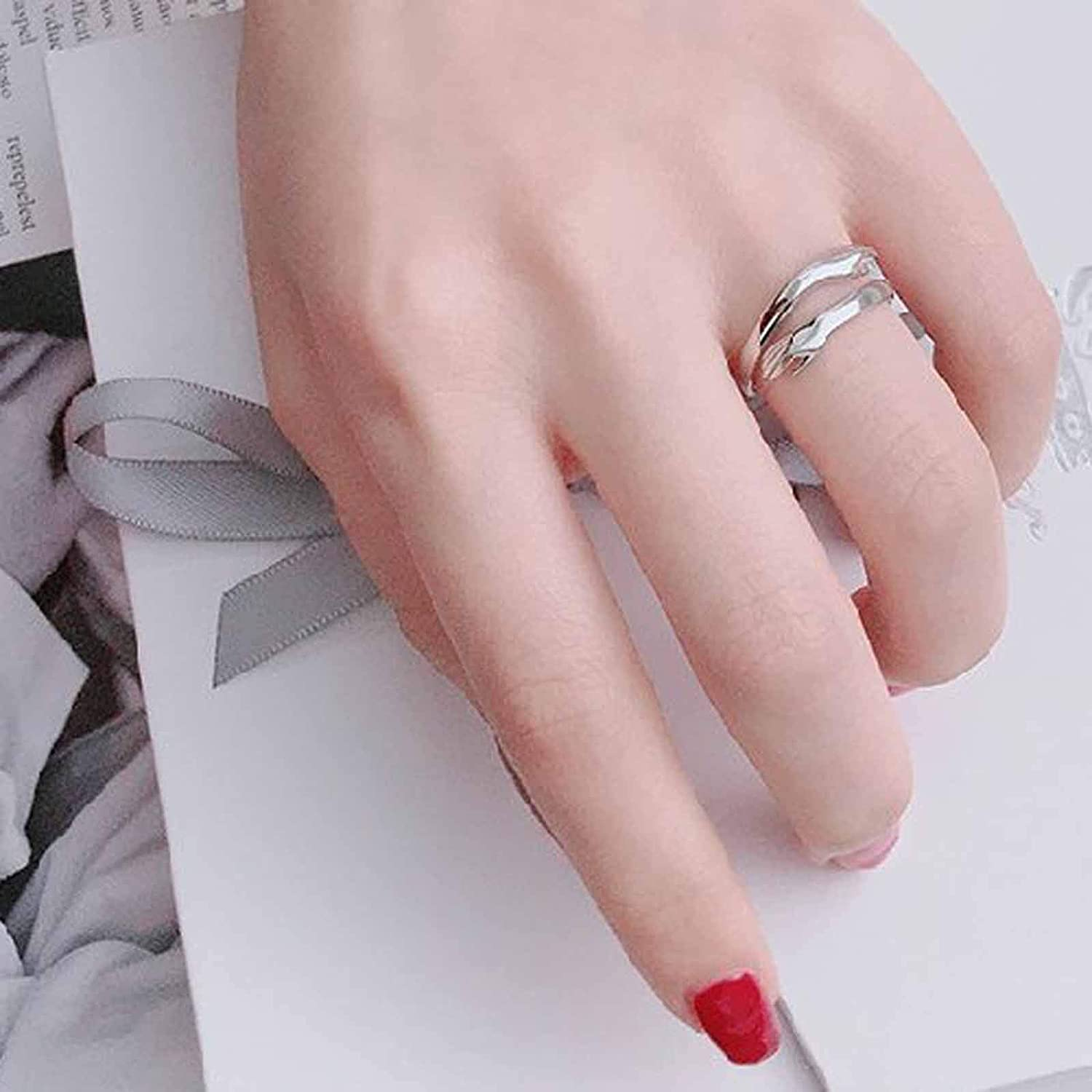 Rings for Women Girls, Rhinestone Engagement Rings Diamond Exquisite Rings Wedding Ring Jewelry Gifts for Her